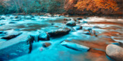 Turquoise Stones Art - A Moment in the Great Smoky Mountains by Rich Leighton