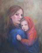 Family Print Paintings - A Moment In Time by Bonnie Goedecke