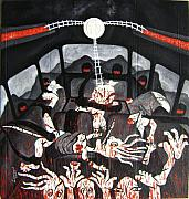 Folk Tapestries - Textiles - A Moment of Blood in Charchim by Leonard Bey