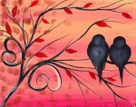 Birds Paintings - A morning with you by  Abril Andrade Griffith