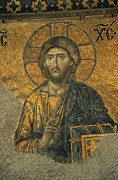 Religious Characters And Scenes Photos - A Mosaic Of Jesus The Christ At St by Tim Laman