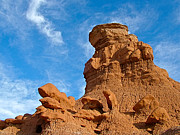 Goblin Digital Art - A Most Serious Goblin on Entrada Trail in Goblin Valley State Park by Ruth Hager
