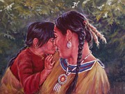 Family Love Painting Originals - A Mothers Love by Ed Breeding