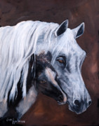 Colts Paintings - A Mothers Love by Jan Holman