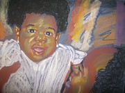 Black Family Pastels - A Mothers Love by Kevin Harris