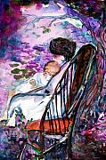 Chair Mixed Media Originals - A Mothers Love by Mindy Newman