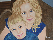 Embrace Paintings - A Mothers Love by Tammy Rekito