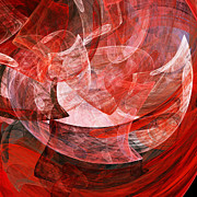 Complex Digital Art - A Mothers Womb . Square . A120422.446 by Wingsdomain Art and Photography