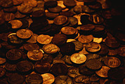Money Photo Posters - A Mound Of Pennies Poster by Joel Sartore