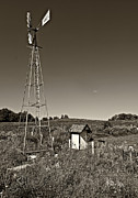 Outhouse Print Photos - A Moving Memory monochrome by Steve Harrington