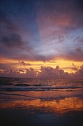 Scenes And Views Art - A Multi-hued Sunset Over Marco Island by Raul Touzon