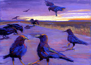 Crows Pastels - A Murder You Say by Cheryl Whitehall