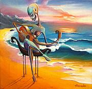 Caribbean Painting Originals - A Musicians Touch by Matt Truiano