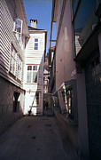 Bergen Posters - A Narrow Street In Bergen Norway Poster by Thomas D McManus