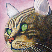 Kitten Painting Prints - A New Day Print by Brian  Commerford