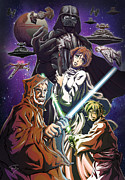 Star Drawings Metal Prints - A New Hope Metal Print by Tuan HollaBack