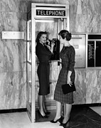 1960s Fashion Photos - A New Model Phone Booth Introduced by Everett