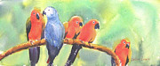 Birds On A Branch Posters - A New Slant on Life Poster by Debbie  Lewis