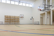 Basketball Court Prints - A Newly Built School Part Of The Basic Print by Jaak Nilson