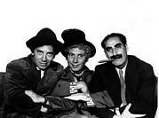 Publicity Shot Photo Prints - A Night At The Opera, Chico Marx, Harpo Print by Everett