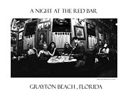 Grayton Beach Posters - A night at the Red Bar Poster by JOSEPH Sekora