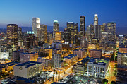 Los Angeles Skyline Metal Prints - A night in L A Metal Print by Kelley King
