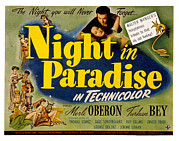 1946 Movies Posters - A Night In Paradise, Merle Oberon Poster by Everett