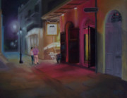 Pirates Pastels Prints - A Night on the Town Print by Marcus Moller