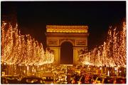Night Scenes Photos - A Night View Of The Arc De Triomphe by Nicole Duplaix