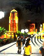 Reeves Prints - A Night Walk Print by Robert Reeves