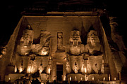 Nubia Acrylic Prints - A Nighttime View Of Ramses Iis Temple Acrylic Print by Taylor S. Kennedy