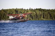 Fuselages Prints - A Norseman Float Plane Takes Off Print by Pete Ryan