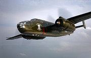 B-25 Bomber Prints - A North American B-25 Mitchell Print by Scott Germain