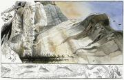 National Geographic Society Art Prints - A Painting Depicts A Prehistoric Print by Jack Unruh