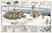 National Geographic Society Art Prints - A Painting Depicts Ice Age People Print by Jack Unruh