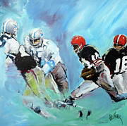 Football Paintings - A Painting For Rawbone by Paul Miller