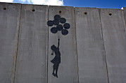 Israel Photos - A Painting On The Israeli Separartion by Keenpress