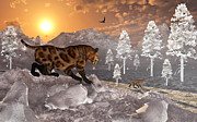 Saber Digital Art - A Pair Of Sabre Tooth Tigers Experience by Mark Stevenson