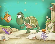 Under The Sea Framed Prints - A Passer By Framed Print by Hank Nunes