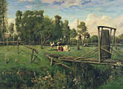 Ramshackle Prints - A Pasture in Normandy Print by Constant-Emile Troyon