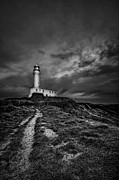 Lighthouse Art - A Path To Enlightment BW by Evelina Kremsdorf