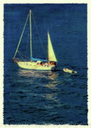 Projects Prints - A Peaceful Day for Sailing Print by Susan Stone