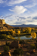 American Southwest Photos - A Peaceful Landscape Stretches by Ralph Lee Hopkins
