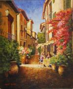 Provence Village Prints - A Perfect Afternoon In Provence Print by Santo De Vita