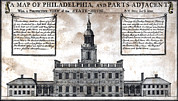 1750s Photos - A Perspective View Of The State-house by Everett