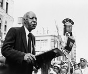 Leaders Prints - A. Philip Randolph Making Speech Print by Everett