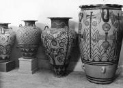 Decade Photo Framed Prints - A Photograph Of Jars From Knossos Framed Print by Maynard Owen Williams