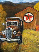 Texaco Sign Paintings - A Pickers Dream by Judie White