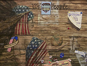 Patriotic Paintings - A Piece of American Wall by Julie Koski