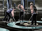 Front End Originals - A Piece Of Curling Art by Lawrence Christopher